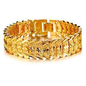 pulsera de oro para hombres en 18k